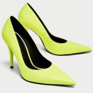 Zara Neon Green Pumps